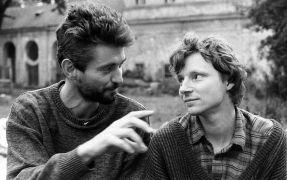 Petr Nikl: Petr Nikl a Igor Hlavinka (1995). Fotograf: Daniel Šperl