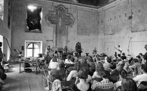 Erhart Hirt, Alan Pavio, Martien Groeneveld: concert — Concert in Refectary (1995). Photographer: Daniel Šperl