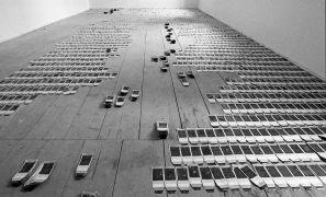 Martin Zet: Altogether — The Sea, Installation with Polaroids, convent, Plasy Monastery (1995). Photographer: Daniel Šperl