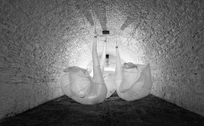 Max Streicher: Swan Song — kinetic installation (1995). Photographer: Daniel Šperl
