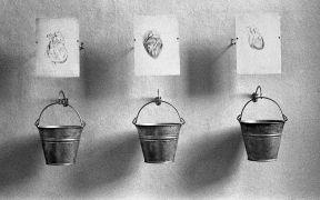 Peter Lelliott:  Installation view, detail  — convent (1994). Photographer: Daniel Šperl