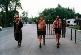 Peter Kalmus, Michal Murín: Performance (1998). Photographer: Archive