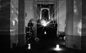 Orloj Snivců: Without title — light and sound (1995). Photographer: Daniel Šperl