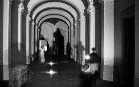 Orloj Snivců: Without title — sound and light (1995). Photographer: Daniel Šperl