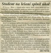 Article from Mlada Fronta dnes — September 12, 1997 (1997). Photographer: archive