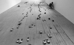 Martin Zet: Altogether — The Sea, Installation with Polaroids, convent, Plasy Monastery (1995). Photographer: Dan Šperl
