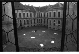 Boris Bakal: View of the convent yard (1995). Photographer: Radek Kodera