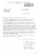 Stefan Bohnenberger: dopis na MV (1994). Photographer: archiv