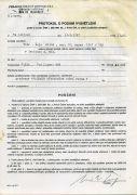 Protocol of the Police CR on providing explanations (1997). Photographer: archive Miloš Šejn