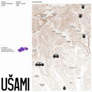 Ján Solčáni: Ušami album cover  — Designed by Matej Vojtuš  (2018). Photographer: Courtesy of mappa