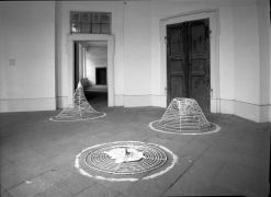 Jitka Svobodová: Three phases of the candle — wire, paper (1993). Photographer: Daniel Šperl