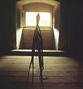 Richard Thomas: Křížení poledníků — instalace, detail (1995). Fotograf: author´s archive