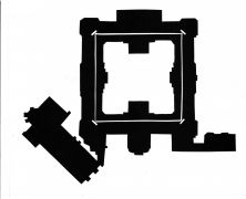 Michal Bouzek: Monastery Plasy, ground plan (1993). Photographer: author´s archive