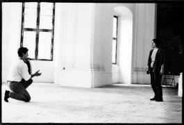 Jo Truman: Voice and Didgeridoo — sound performance (1992). Photographer: Iris Honderdos