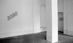 Linda Vinck: untitled (Rhythm) — installation view, convent (1994). Photographer: Daniel Šperl