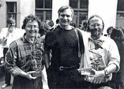 Adam Klimczak: Adam Klimczak, Josef Robakowski, Jerzy Grzegorski (1994). Photographer: archive