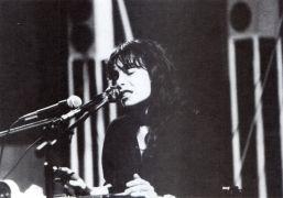 Anna Homler: sound performance (1992). Photographer: archive