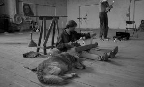 Martien Groeneveld: martien_groeneveld — music performance, sound installation (1994). Photographer: Radovan Kodera